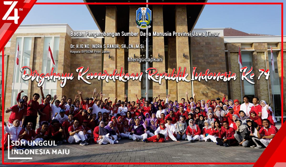 DIRGAHAYU NEGERIKU REPUBLIK INDONESIA KE 74