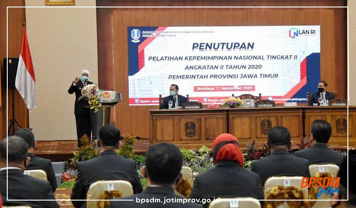 Penutupan PKN Tingkat II Angkatan II Pemerintah Provinsi Jawa Timur Tahun 2020